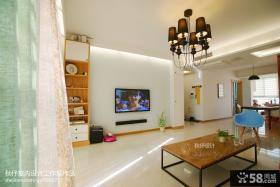 现代风格客厅电视背景墙设计效果图片大全