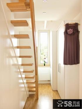 简约实木阁楼楼梯装修图片