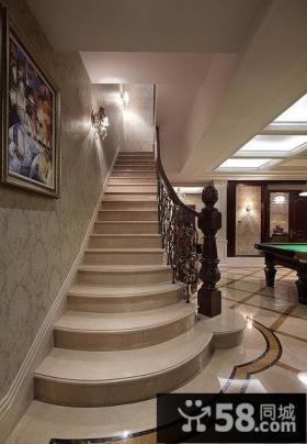 大气欧式风格楼梯设计效果图