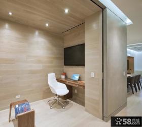 90平米小户型时尚室内书房装修效果图大全2012图片