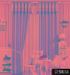 田园风格客厅窗帘设计效果图