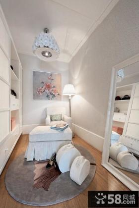 时尚美式风格家庭公寓户型装修设计图片