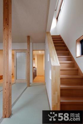 日式复式楼楼梯效果图