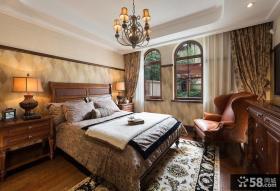 复古欧式别墅室内卧室设计图片