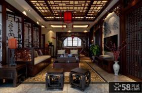 中式客厅吊顶设计图