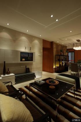 三居室瓷砖电视背景墙效果图