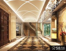 欧式别墅门厅过道装修效果图