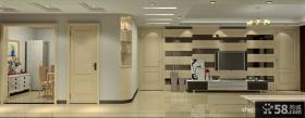 简约客厅电视背景墙装饰设计