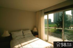 现代简约风格卧室阳台设计效果图