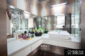 现代卫生间台面装修设计图片