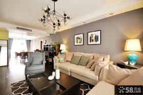 80平米美式一居室装修图片欣赏