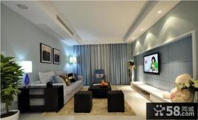 现代简约客厅电视背景墙设计图大全