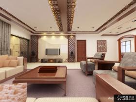 新中式客厅电视背景墙装修效果图欣赏