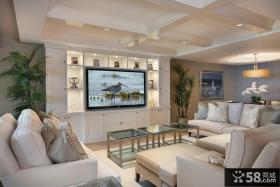 欧式风格客厅电视背景墙效果图片