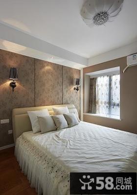 简欧设计卧室飘窗图2015
