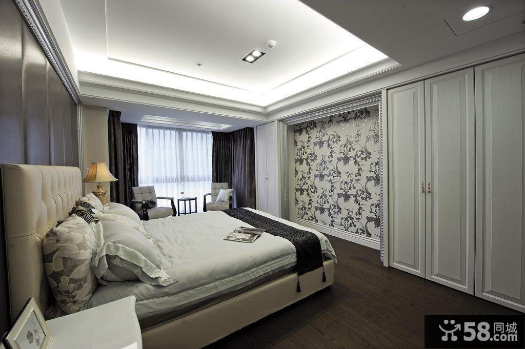 欧式古典风格主卧室吊顶图片