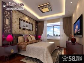中式四居次卧装修效果图