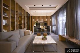 日式风格别墅家居客厅装饰效果图