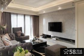 简约风格客厅电视背景墙设计效果图欣赏