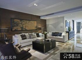 2013简约风格客厅沙发背景墙装修效果图