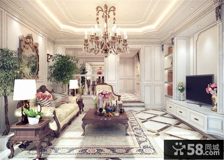 家庭客厅欧式吊灯图片