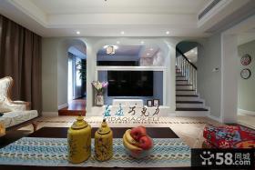 家居服饰客厅电视背景墙装饰