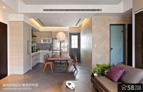 现代简约风格厨房餐厅装修效果图大全2013图片
