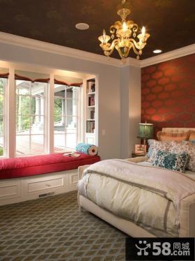 2012欧式卧室吊顶效果图 卧室飘窗效果图
