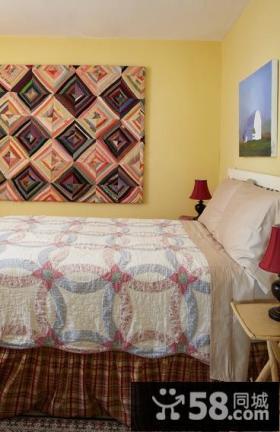 美式田园风格小户型卧室装修效果图大全2013图片