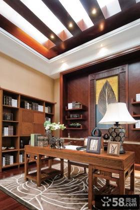 中颐海伦春天别墅样板房 中式古典美的书房厅装修