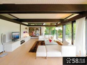 简约时尚设计客厅电视背景墙装修图