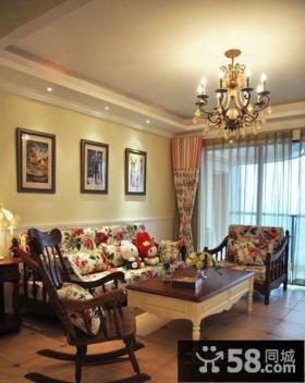 美式田园风格客厅家具图片欣赏