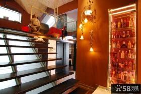 2013中式阁楼楼梯装修效果图