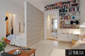 小户型客厅卧室隔断设计