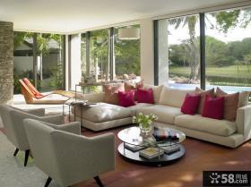 现代美式风格客厅装修图