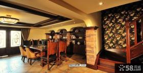 美式乡村风格别墅餐厅装修效果图