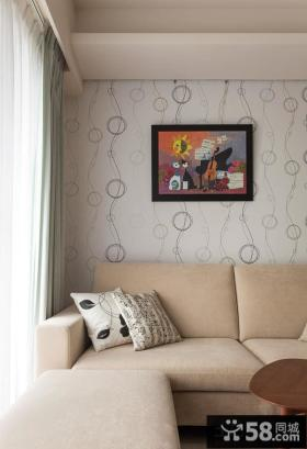 简约风格沙发客厅墙面装饰画图片