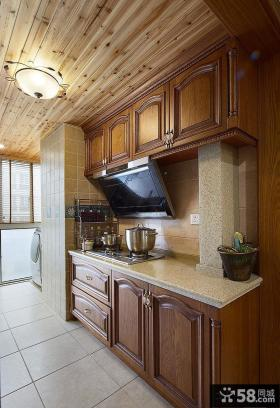 美式乡村家居厨房装修图片2014