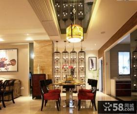 现代中式家装餐厅吊顶效果图