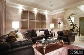 现代欧式复式楼客厅装修效果图