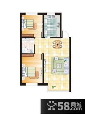 小户型两居室户型图