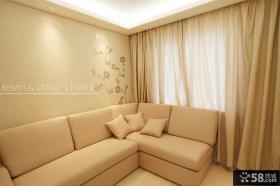 现代简约风格客厅拐角沙发效果图大全2013图片