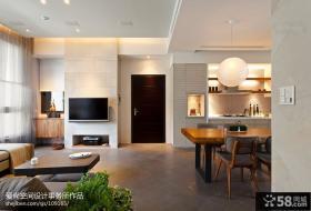 现代简约风格进门玄关客厅装修效果图