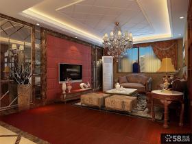 中式客厅电视背景墙装修设计