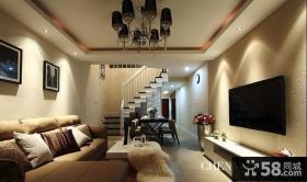 复式样板房客厅装修效果图欣赏