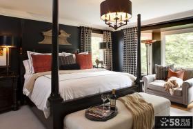 欧式风格卧室实木床图片