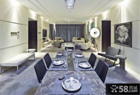 现代中式装潢设计餐厅