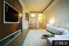 现代风格小户型客厅电视机背景墙设计效果图