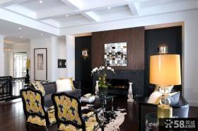 经典现代风格复式楼客厅设计