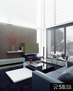 极简风格别墅客厅装修效果图